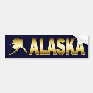 GOLD ALASKA STICKER