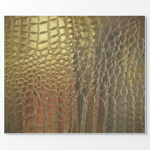 Gold Alligator Exotic Leather Pimp Wrapping Paper