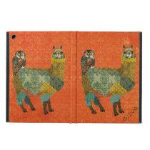 Gold Alpaca & Teal Owl Amber Case