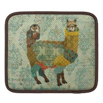Gold Alpaca & Teal Owl iPad Sleeve
