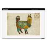 Gold Alpaca & Teal Owl Monogram Laptop Skin