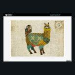 "Gold Alpaca &amp; Teal Owl Monogram Laptop Skin<br><div class=""desc"">Design by Nicole King &#169;2013 Customized Designs Available cole30@gmail.com</div>"
