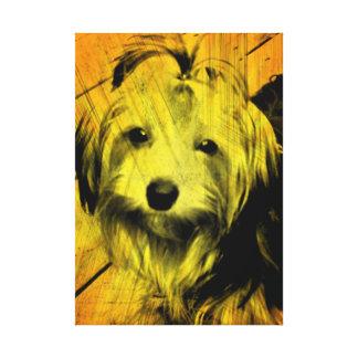 Gold Amber Grunge Yorkshire Terrier Wall Art