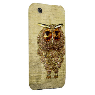 Gold & Amber Owl Jewel iPhone 3G Case iPhone 3 Case