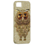 Gold & Amber Owl Jewel PRINTED IMAGE iPhone 5 Cases