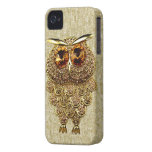 Gold & Amber Owl Jewel PRINTED IMAGE iPhone 4 Case-Mate Cases