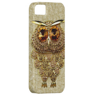 Gold & Amber Owl Jewel PRINTED IMAGE iPhone SE/5/5s Case