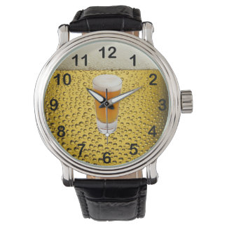 "Gold Amber ""The Time is Beer o'clock"" Wristwatches"