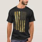 Gold American Flag T-Shirt