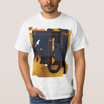 Gold an Ebony Abstract T-Shirt