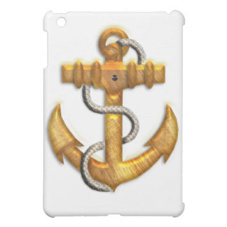 Gold Anchor Cover For The iPad Mini