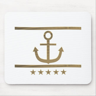 gold anchor happiness symbol mouse pad