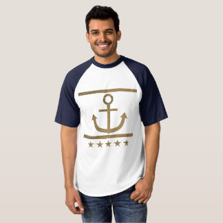gold anchor happiness symbol t-shirt