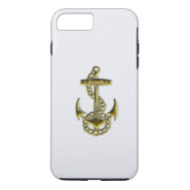 Gold Anchor iPhone 7 Case