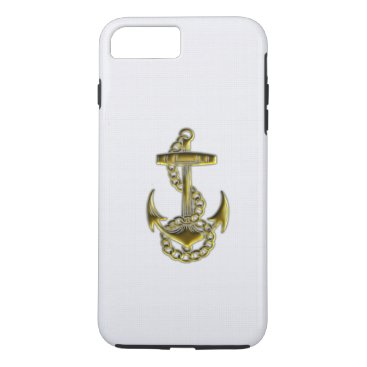 Gold Anchor iPhone 7 Case