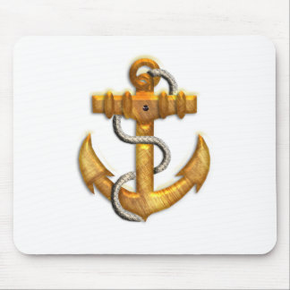 Gold Anchor Mouse Pad