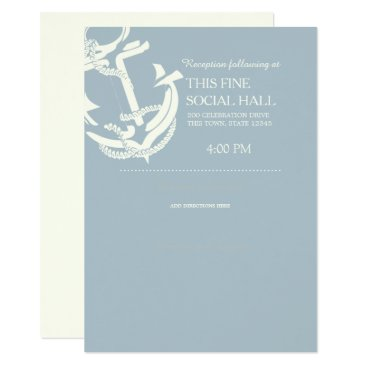 Gold Anchor Nautical Wedding Accommodations Card