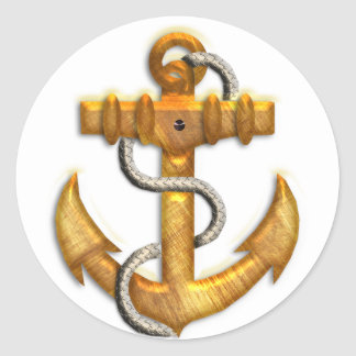 Gold Anchor Sticker