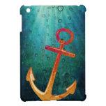 Gold Anchors Away Nautical iPad Mini Covers
