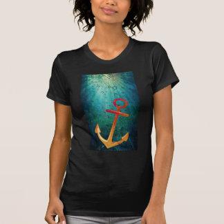Gold Anchors Away Nautical T-shirts