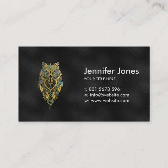 Gold and abalone tribal owl business card zazzle gold and abalone tribal owl business card colourmoves
