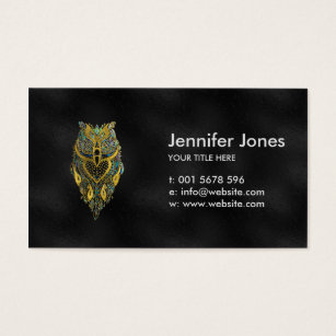 Owl business cards templates zazzle gold and abalone tribal owl business card colourmoves