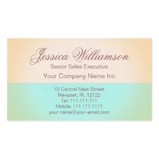 Gold and Aqua Elegant Contemporary Lady's Chic Business Card Template
