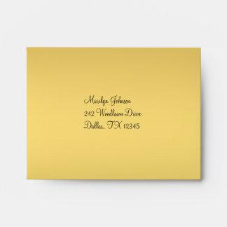 Gold and Black A2 Envelope for RSVP Card