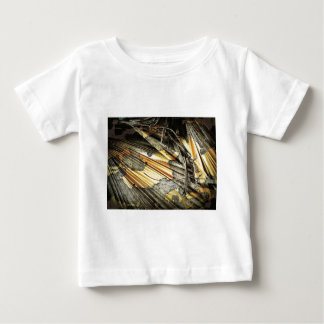 Gold And Black Abstract Tees