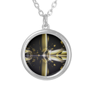 Gold and Black Armour Brass Rings Fractal Gifts Necklaces