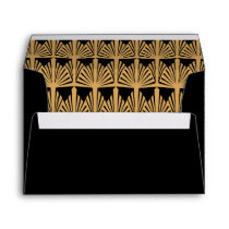 Gold and Black Art Deco Pattern Envelope