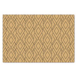 Gold and Black Art Deco Pattern Tissue Paper