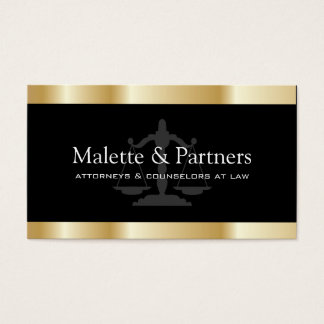 Gold and Black Attorney Business Cards