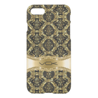 Gold And Black Baroque Floral Pattern iPhone 8/7 Case