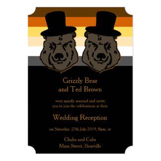Gold and Black Bear Pride Reception Invitation
