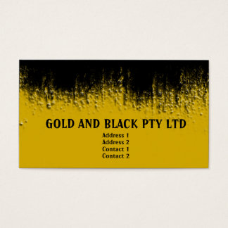 Gold and Black Blistered Business Card