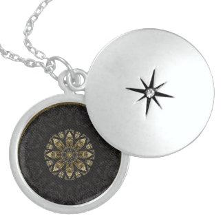 Gold and Black Boho Chic  Mandala Necklace