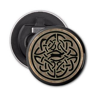 Gold and Black Celtic Knot Bottle Opener