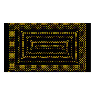 Gold And Black Celtic Rectangular Spiral Double-Sided Standard Business Cards (Pack Of 100)