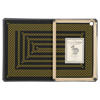 Gold And Black Celtic Rectangular Spiral iPad Air Case