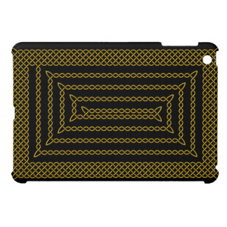 Gold And Black Celtic Rectangular Spiral Cover For The iPad Mini