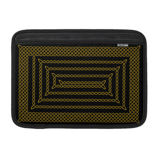 Gold And Black Celtic Rectangular Spiral MacBook Air Sleeves
