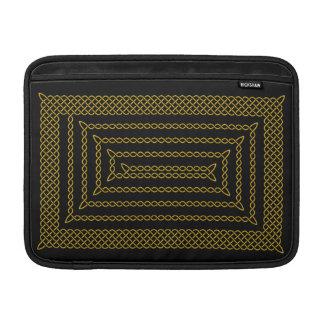 Gold And Black Celtic Rectangular Spiral MacBook Sleeve