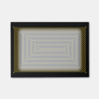 Gold And Black Celtic Rectangular Spiral Post-it® Notes