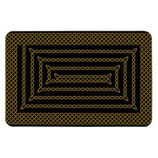 Gold And Black Celtic Rectangular Spiral Rectangular Photo Magnet