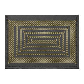 Gold And Black Celtic Rectangular Spiral Tyvek® Card Wallet