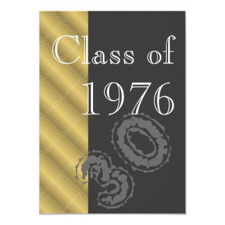 Gold and black Class reunion party Card