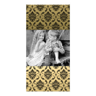 Gold and Black Classic Damask Card