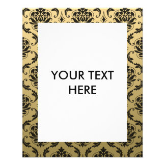 Gold and Black Classic Damask Flyer