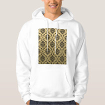 Gold and Black Classic Damask Hoodie